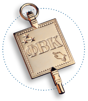 Phi Beta Kappa key in a circle