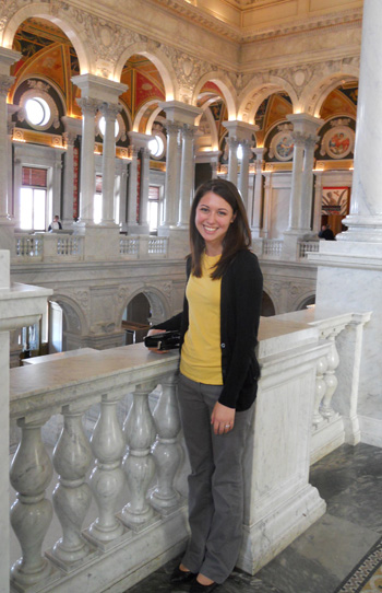 PR alumna Kristen Hemmings at the Library of Congress in Washington D.C.