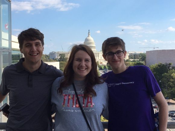 Editors of the Times-Delphic in front of the U.S. Capitol during a 2016 visit to Washington D.C.