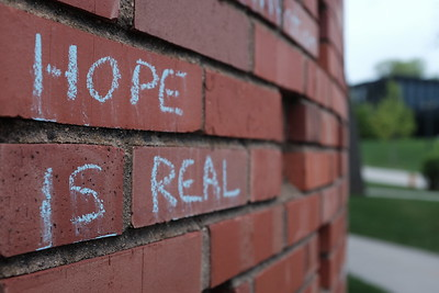 Chalk on Brick: Hope is Real