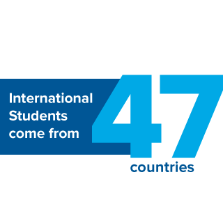 International Students come from 47 countries