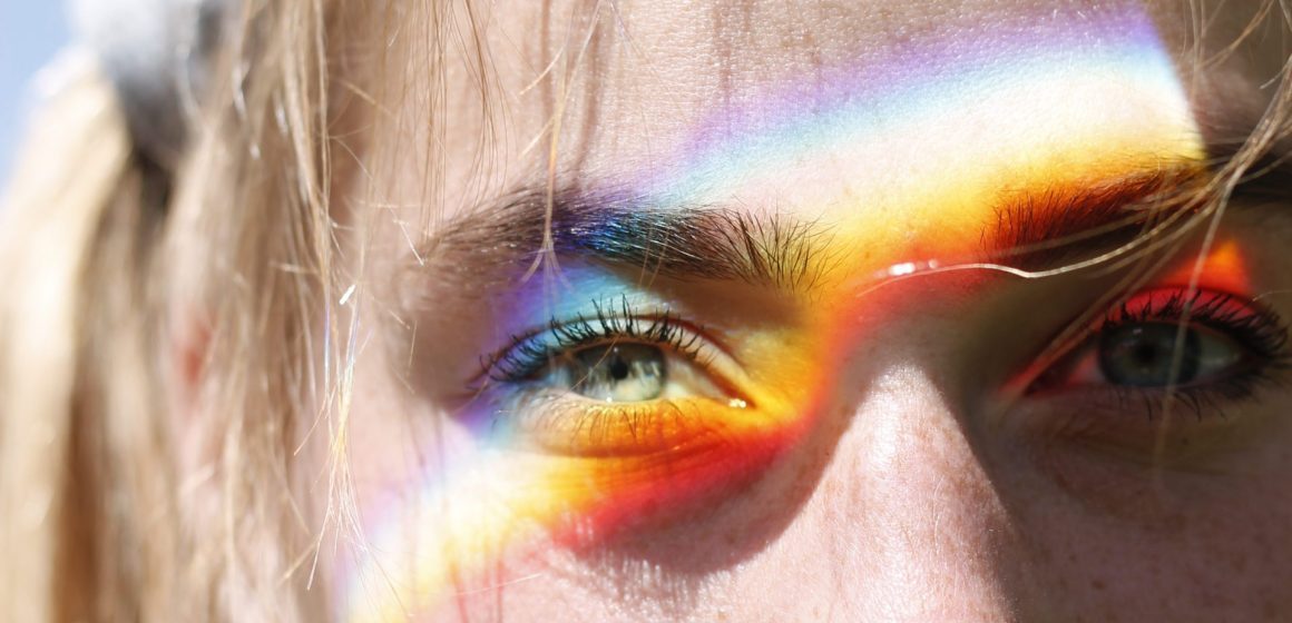 Urban Plains Feature Portrait with Rainbow